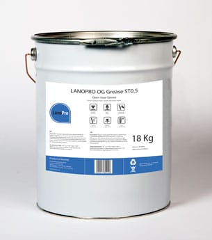 LanoPro OG Grease ST0 is an open gear grease