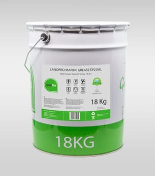 Biodegradable marine grease ep2 eal in 18kg steel pail From LanoPro