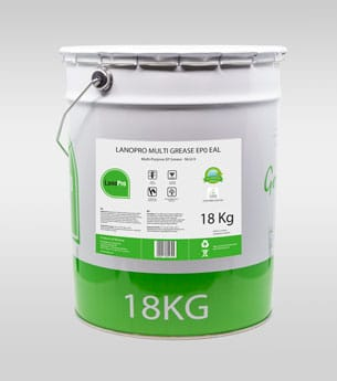 Biodegradable multi grease ep0 eal in 18kg steel pail From LanoPro
