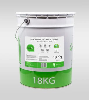 Biodegradable multi grease ep2 eal in 18kg steel pail From LanoPro