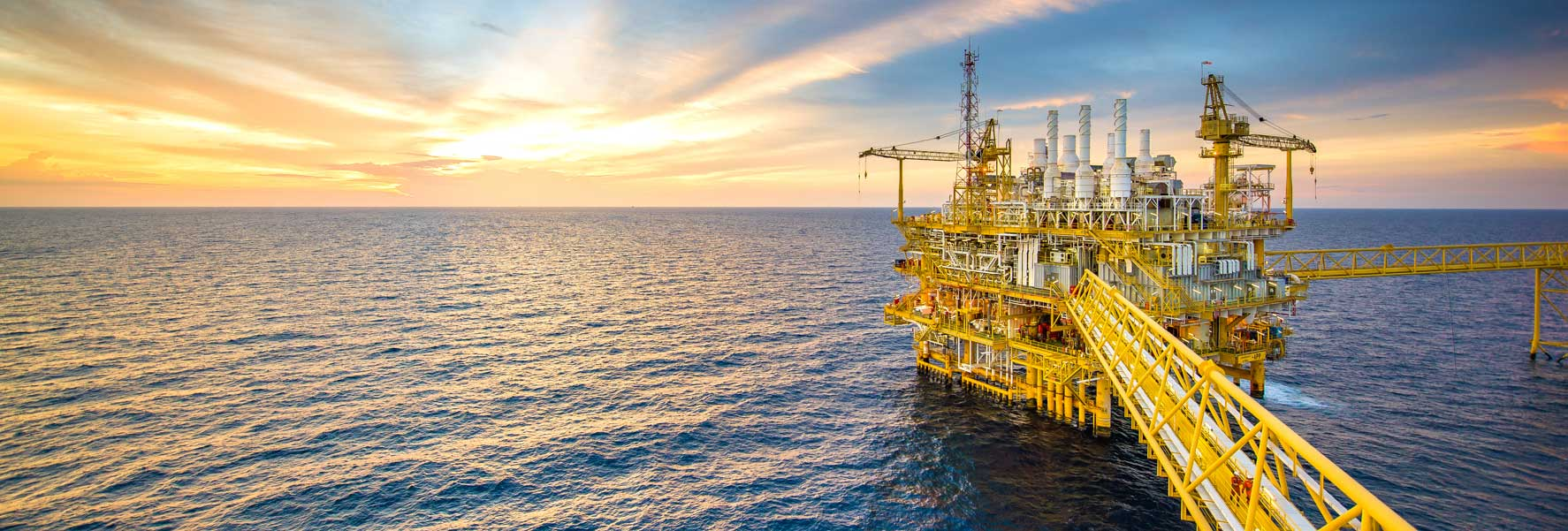 Offshore Industry at LanoPro with yellow platform